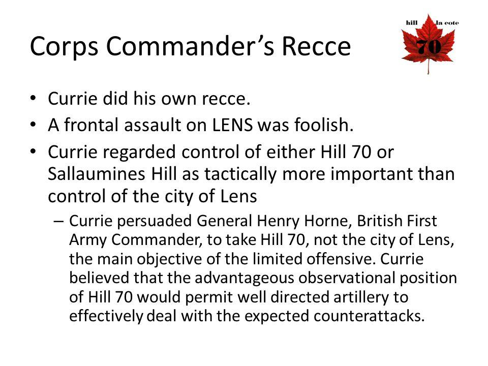 Corps Commander's Recce