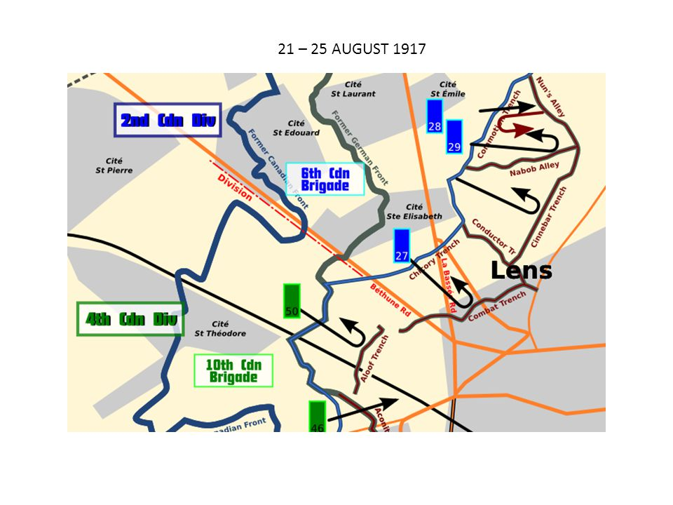 21 – 25 AUGUST 1917