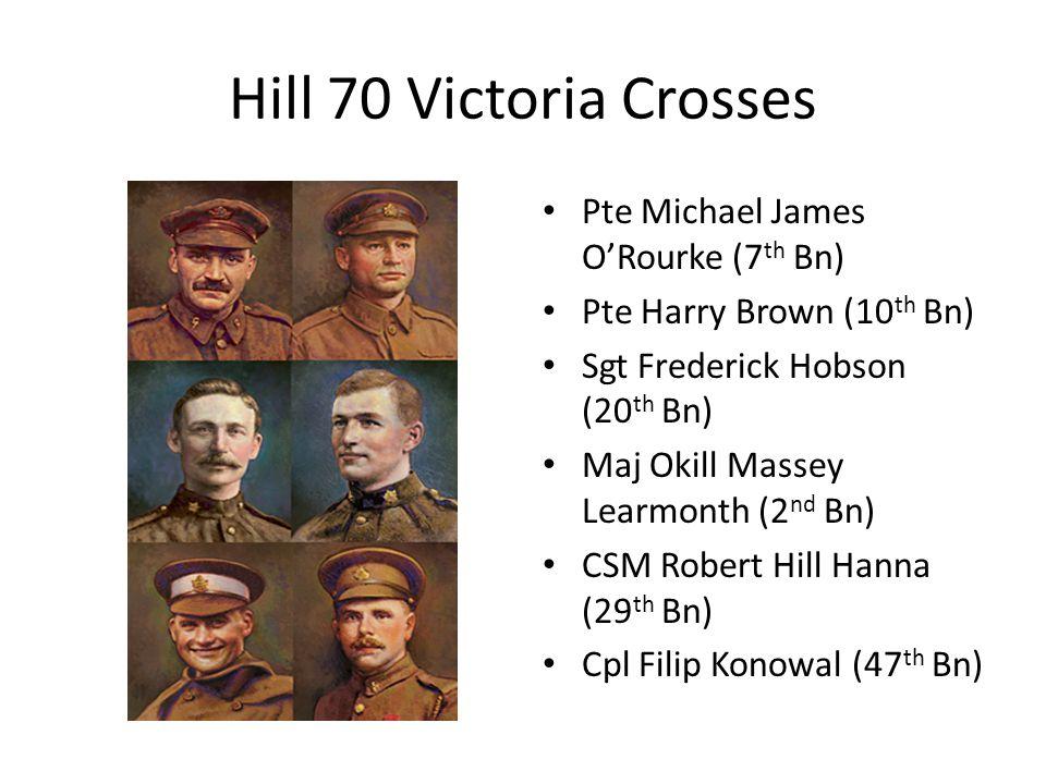 Hill 70 Victoria Crosses Pte Michael James O'Rourke (7th Bn)