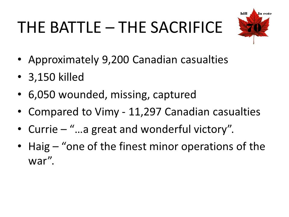 THE BATTLE – THE SACRIFICE