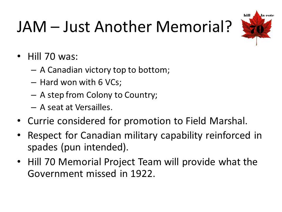 JAM – Just Another Memorial