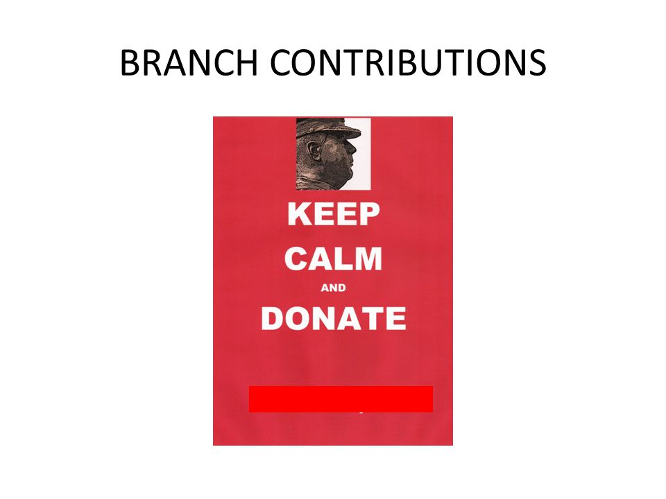 BRANCH CONTRIBUTIONS