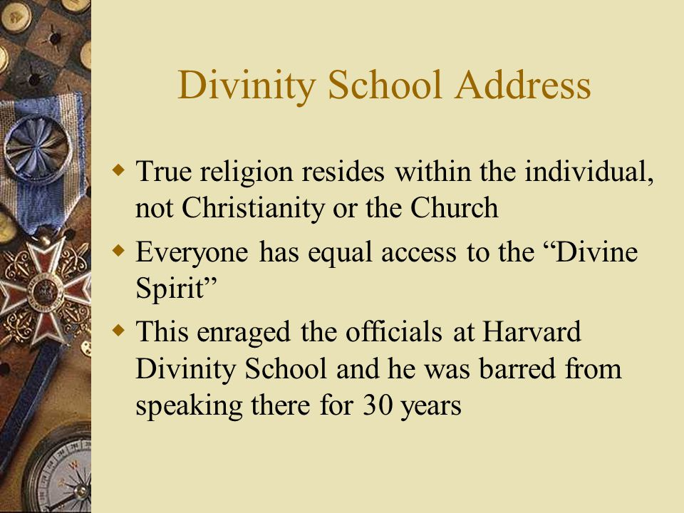 Divinity School Address