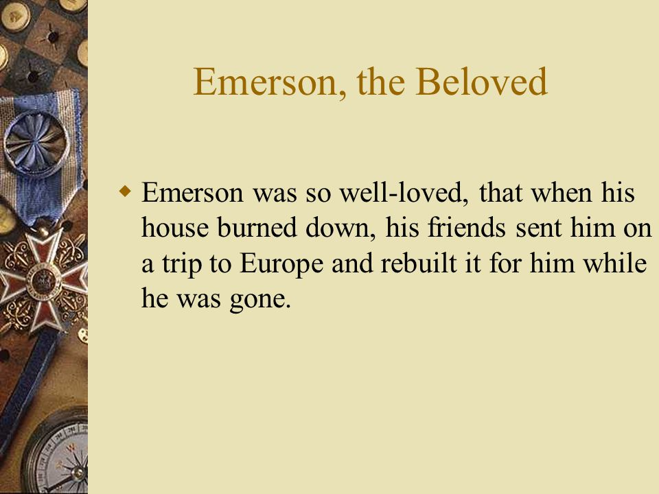 Emerson, the Beloved