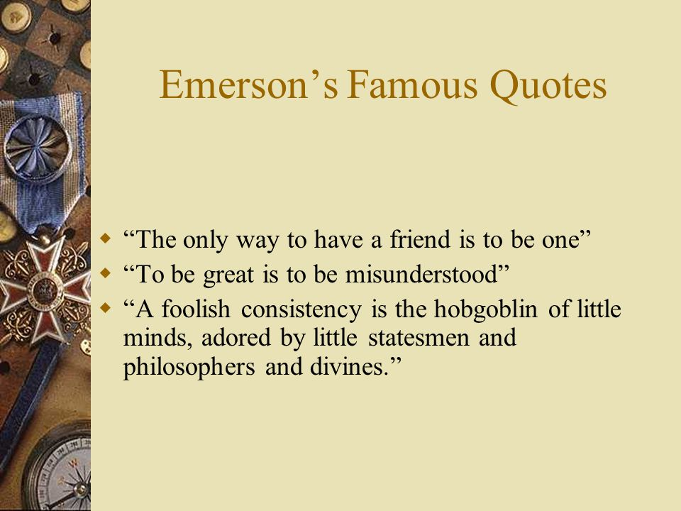 Emerson's Famous Quotes