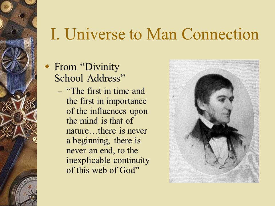 I. Universe to Man Connection