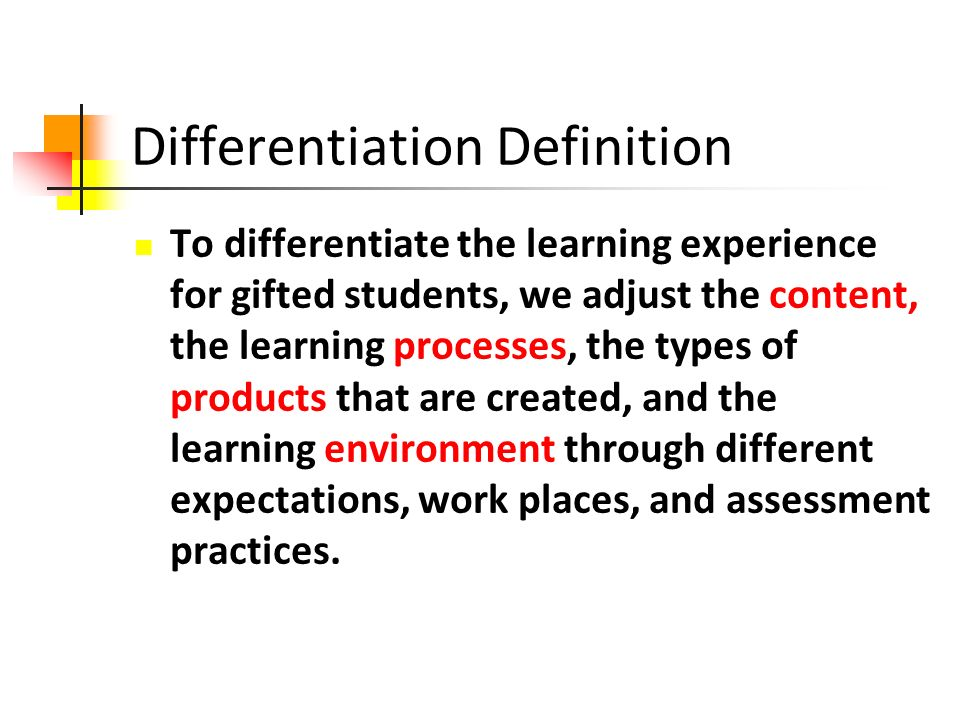Differentiation Definition