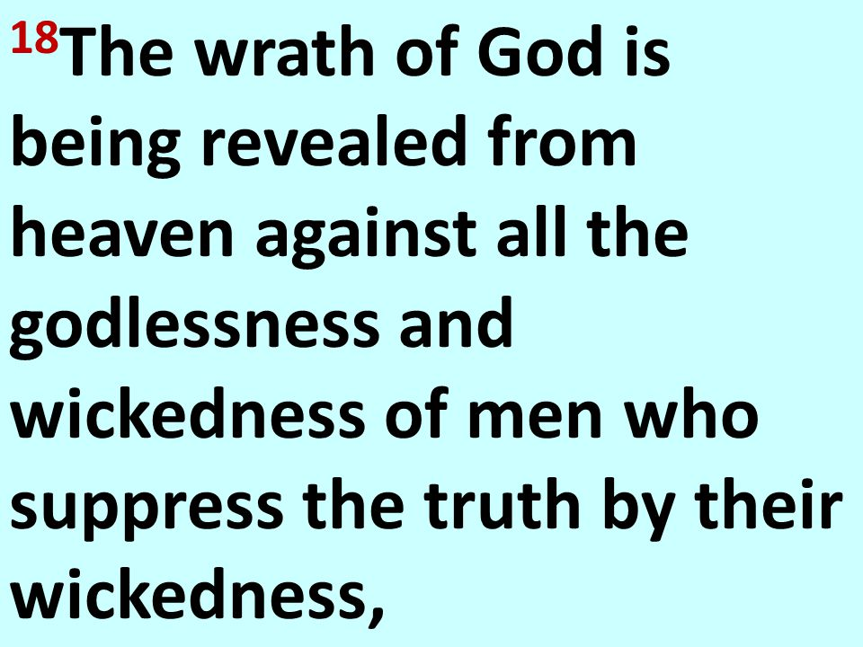Rom. 1:18-23