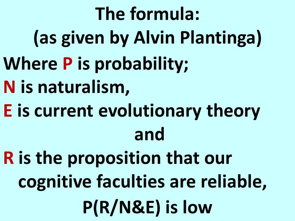 Alvin Plantinga's formula