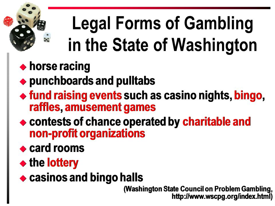 Legal Forms of Gambling in the State of Washington