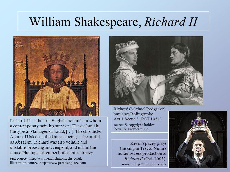 William Shakespeare, Richard II