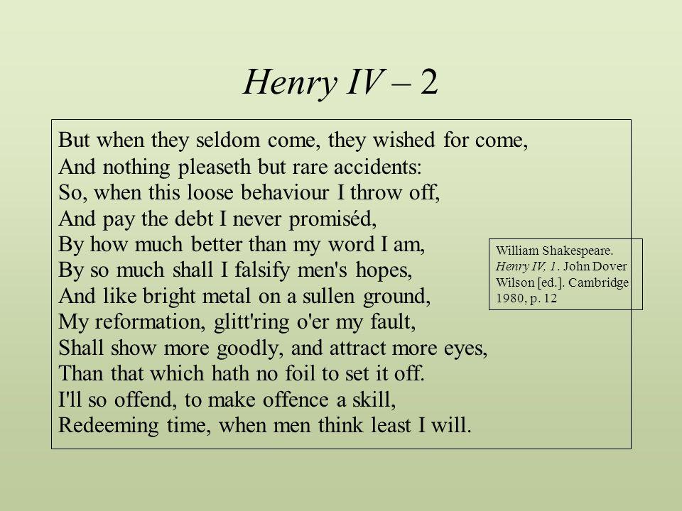 Henry IV – 2