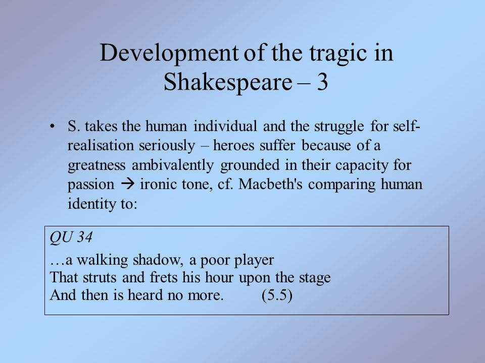 hamlet s self realization of his tragic flaw Howto: hamlet's tragic flaw hamlet as a  hamlet is depicted as shakespears tragic hero due to his flaw of irresolution to take action along with self.