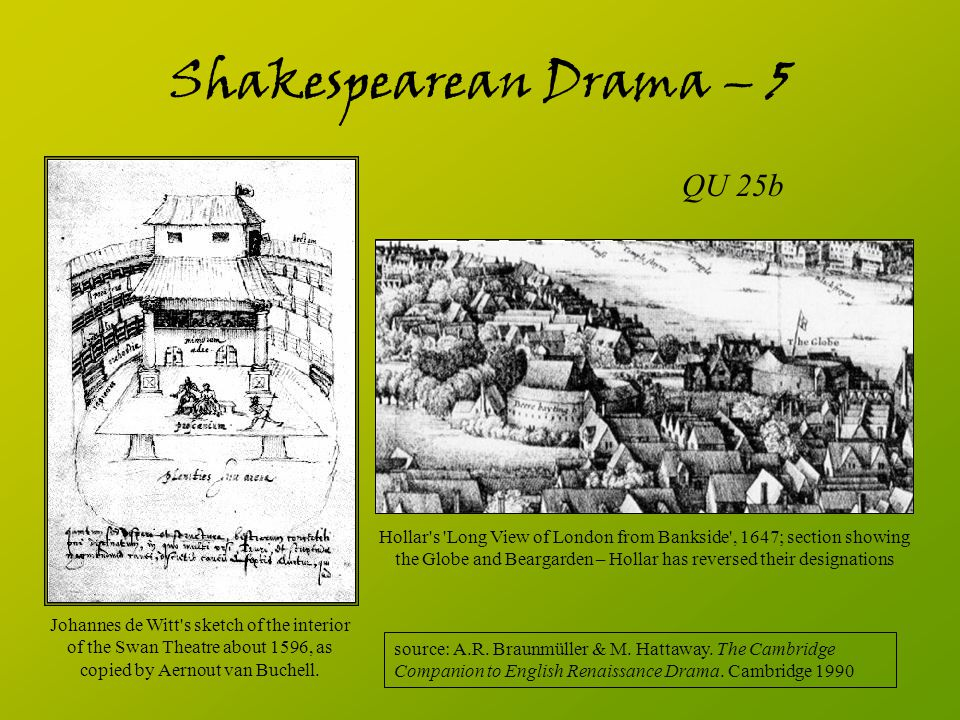 Shakespearean Drama – 5 QU 25b