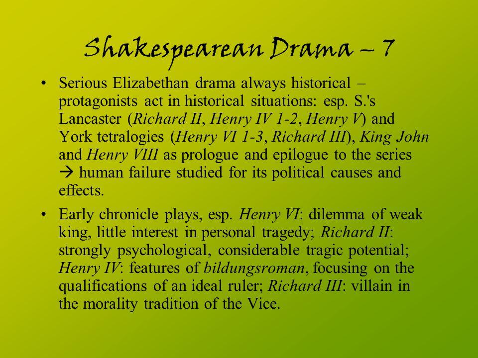 Shakespearean Drama – 7