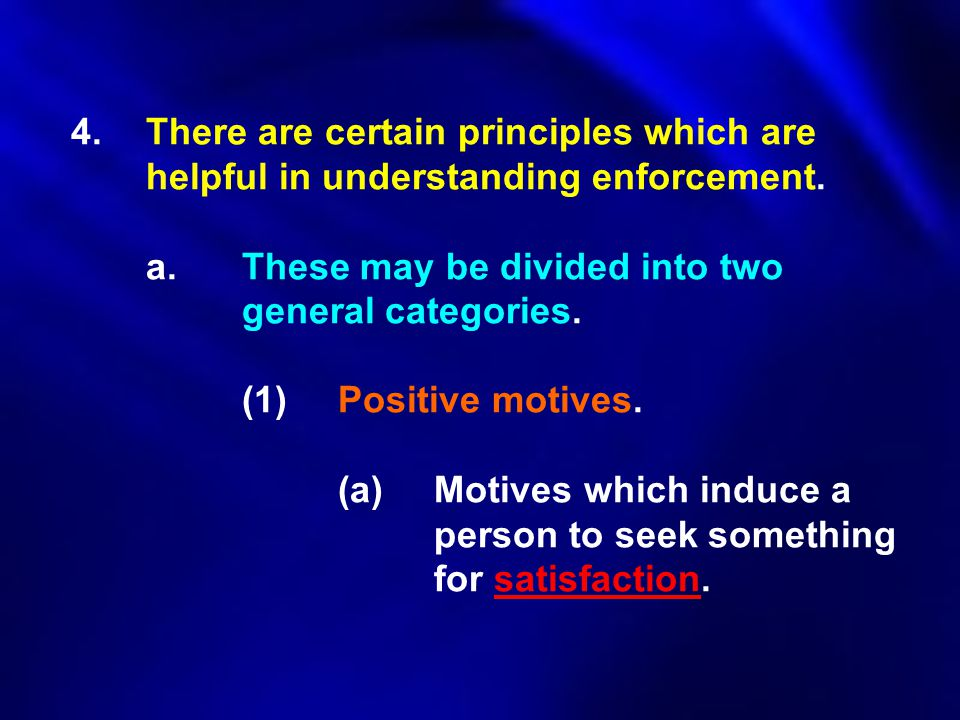 4. There are certain principles which are