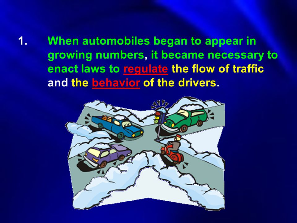 1. When automobiles began to appear in