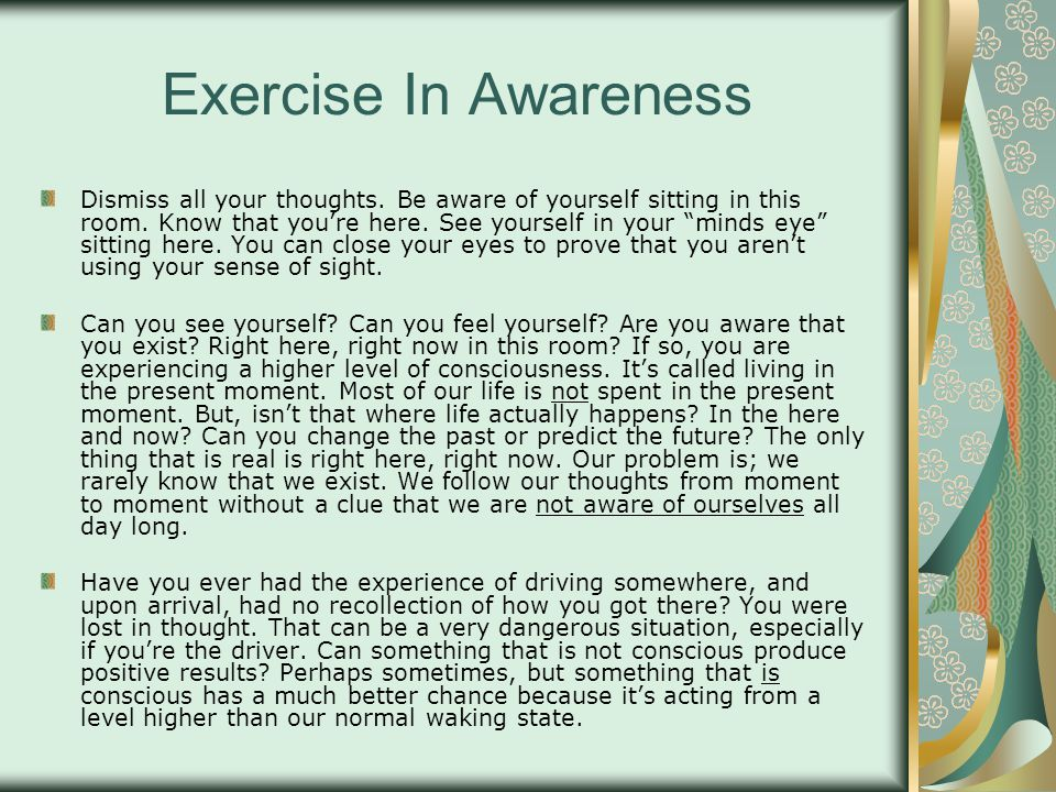 Exercise In Awareness
