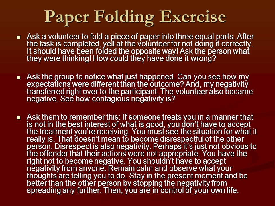 Paper Folding Exercise