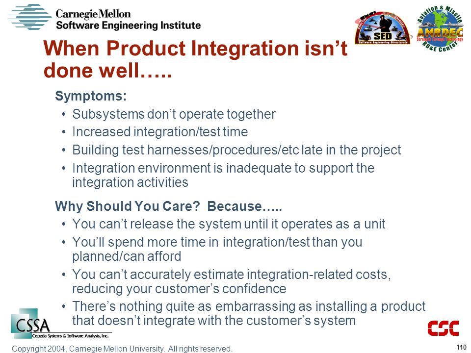 When Product Integration isn't done well…..