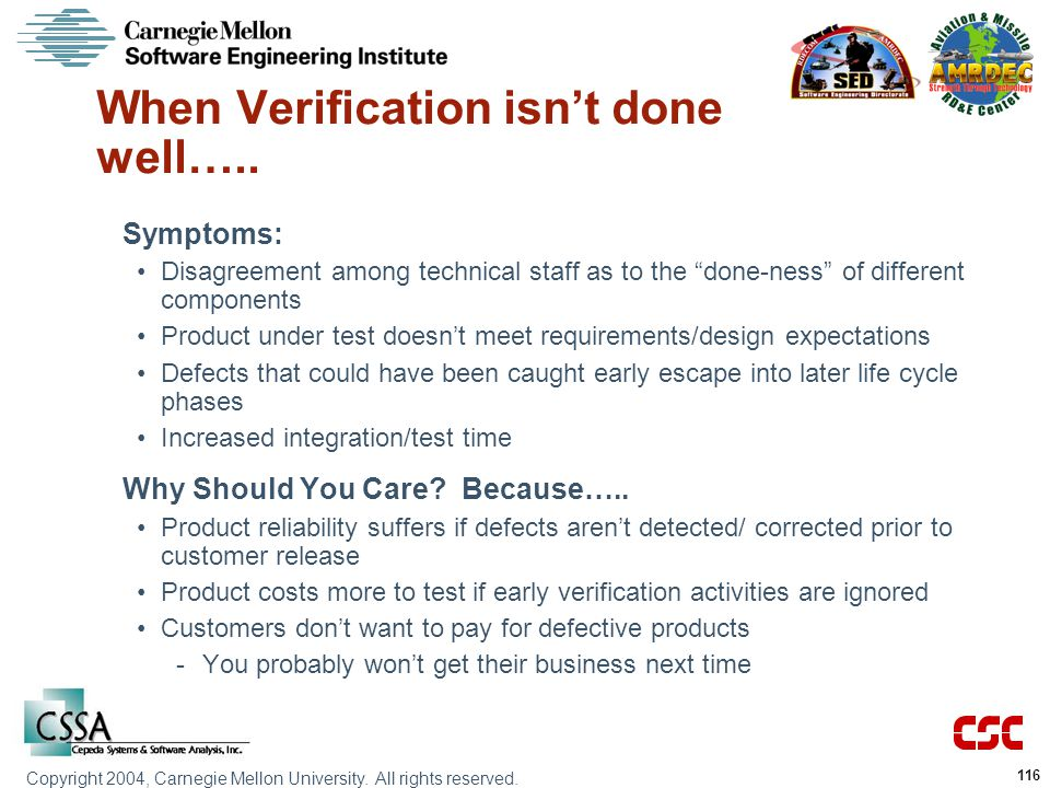 When Verification isn't done well…..