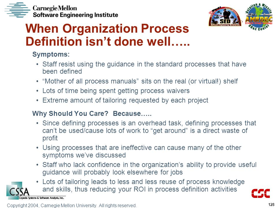 When Organization Process Definition isn't done well…..