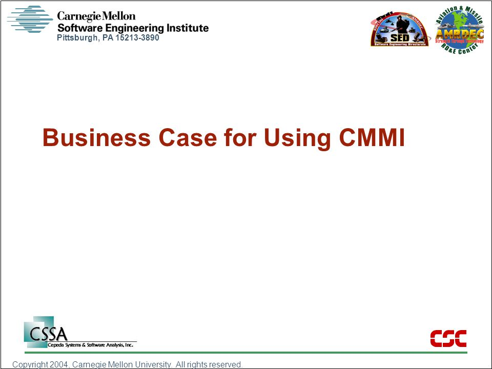 Business Case for Using CMMI