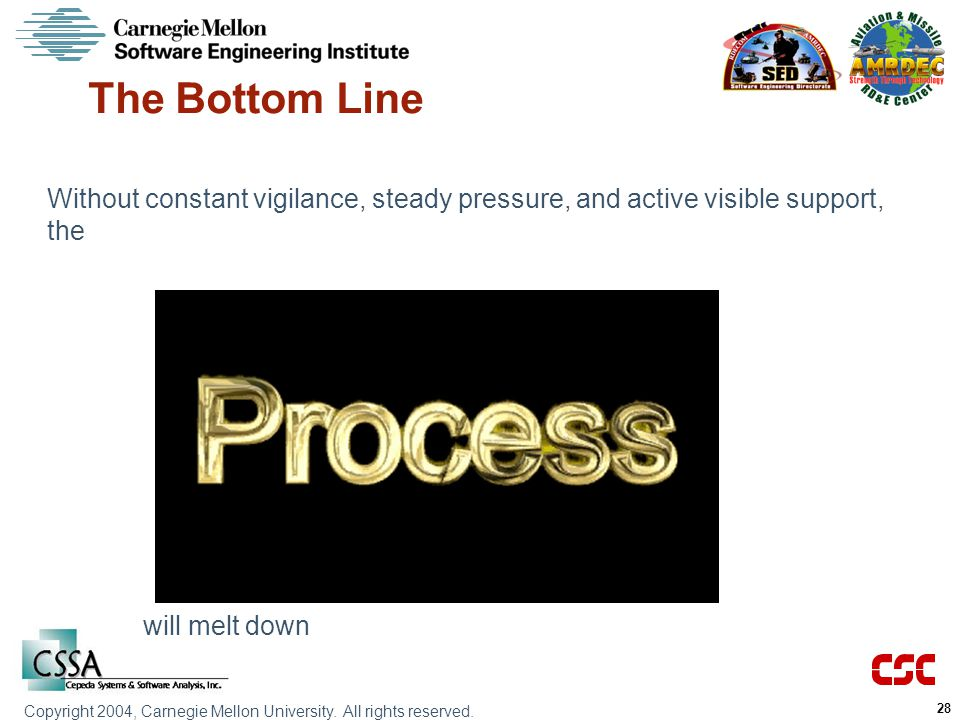 The Bottom Line Without constant vigilance, steady pressure, and active visible support, the.