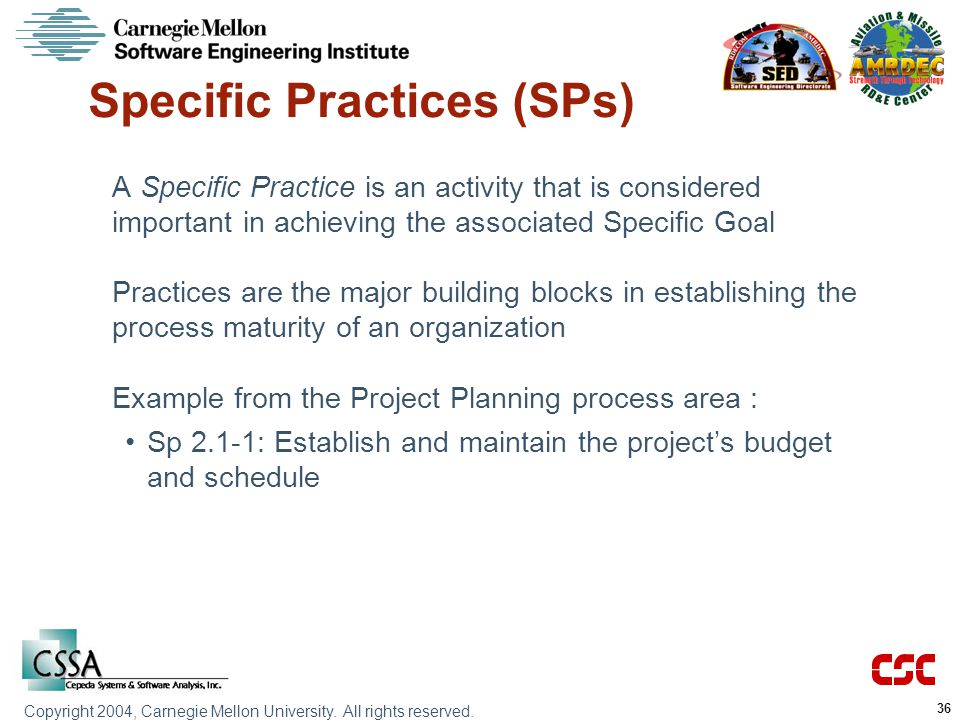 Specific Practices (SPs)
