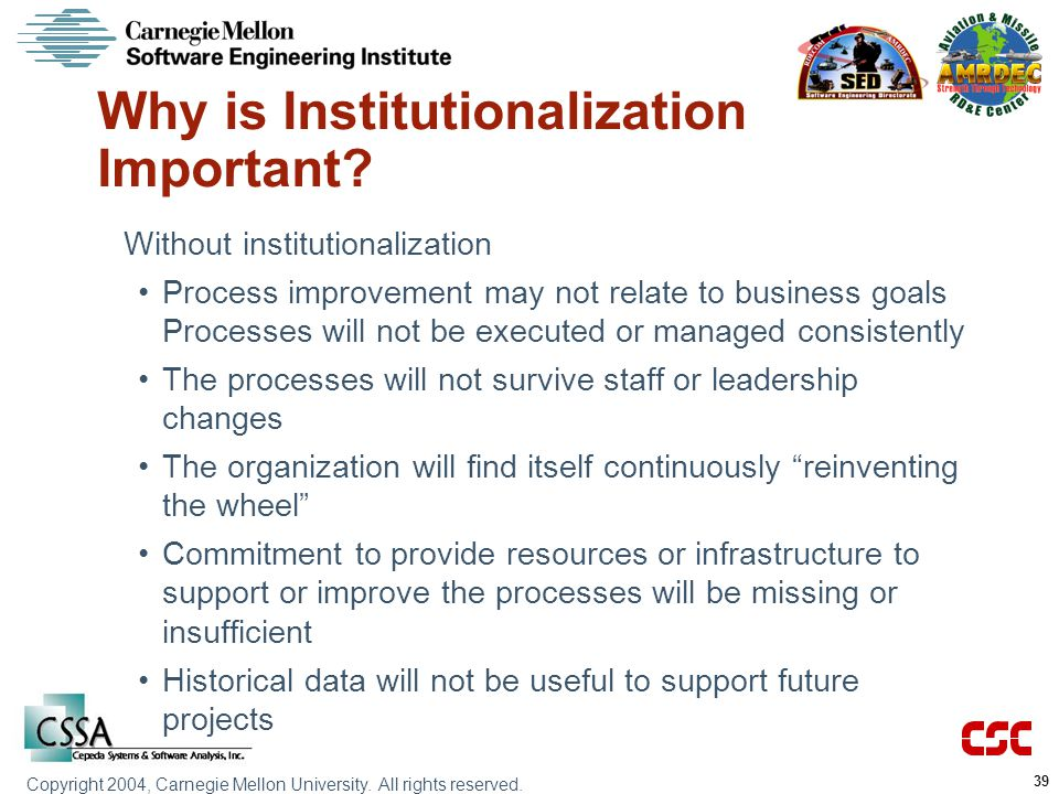 Why is Institutionalization Important
