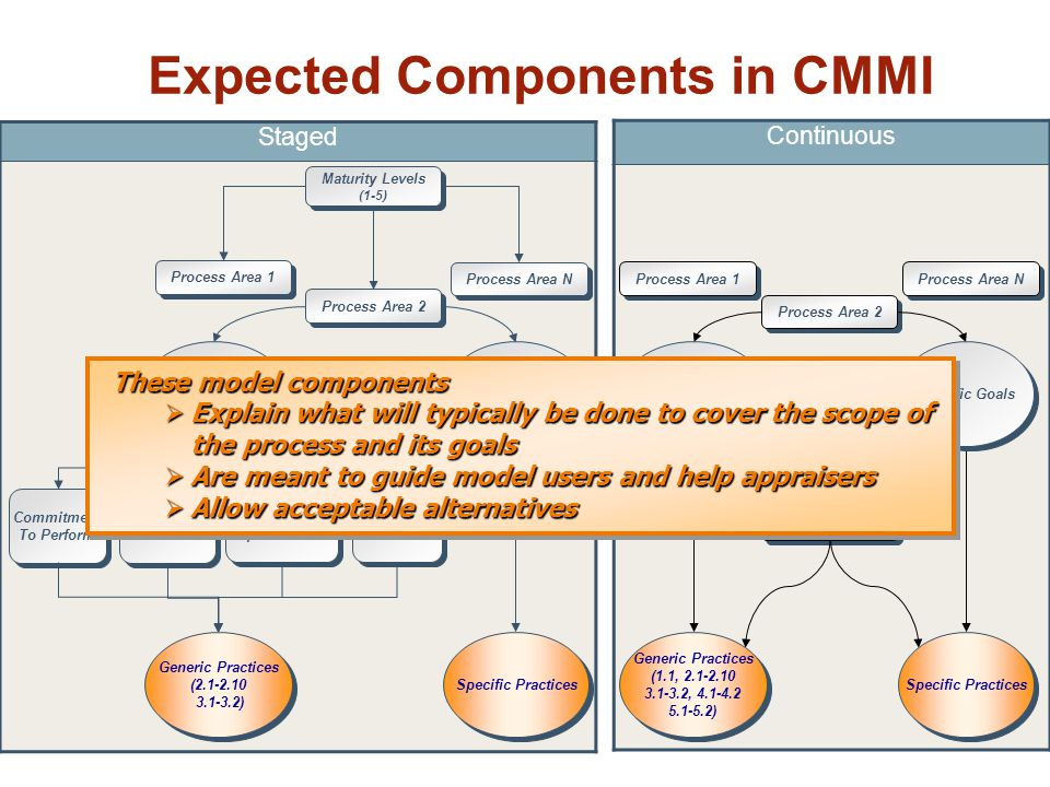 Expected Components in CMMI
