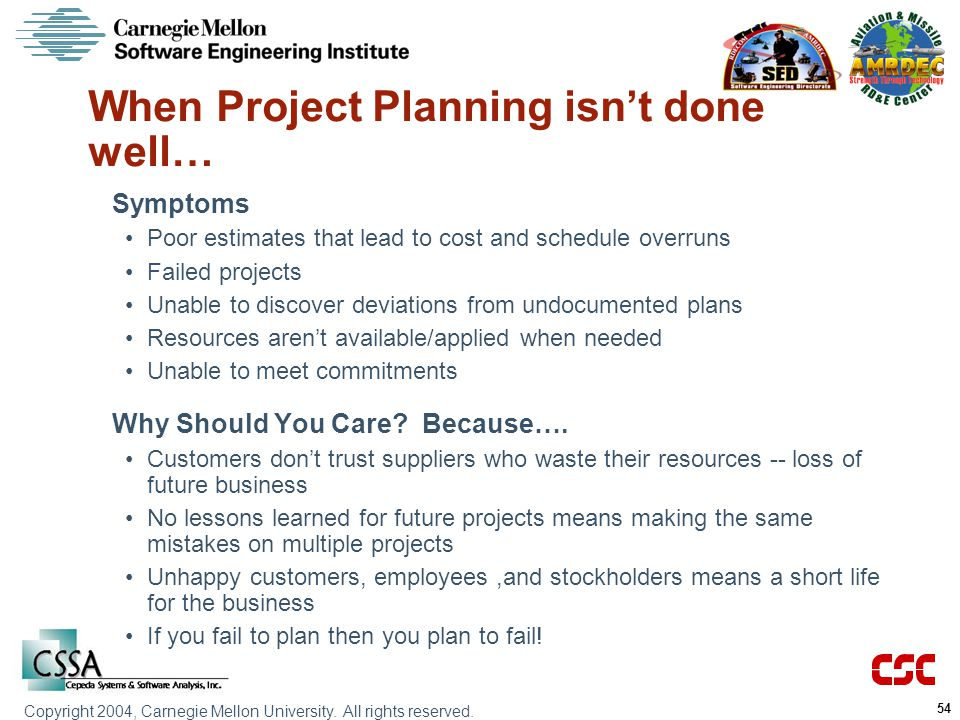 When Project Planning isn't done well…