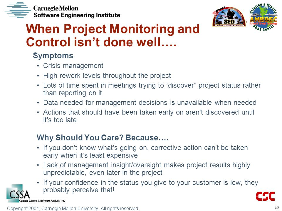 When Project Monitoring and Control isn't done well….