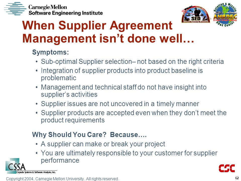 When Supplier Agreement Management isn't done well…