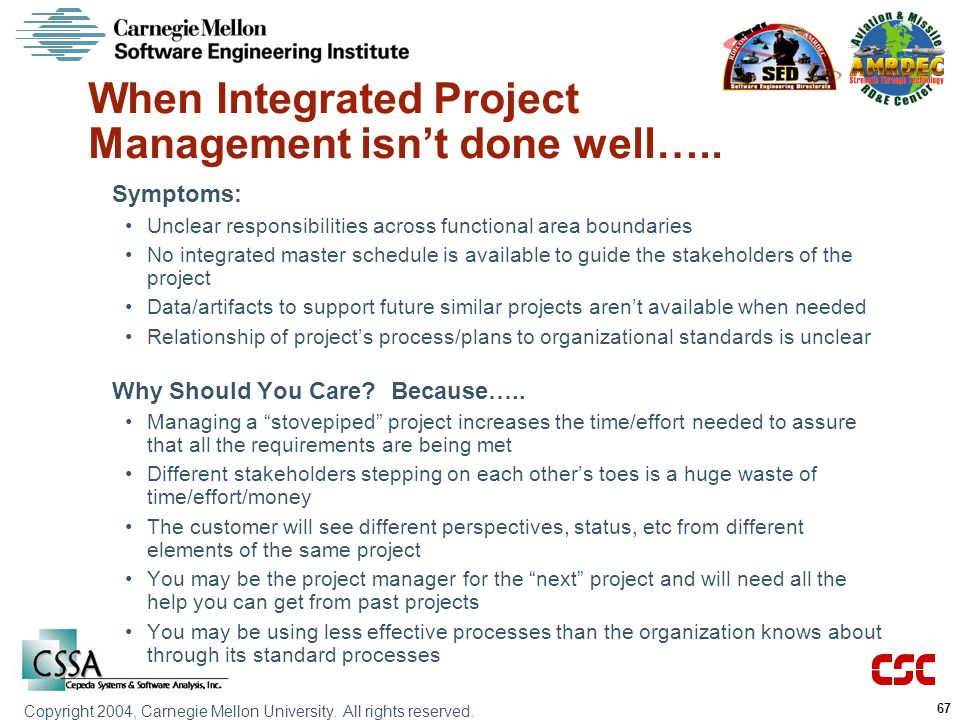 When Integrated Project Management isn't done well…..