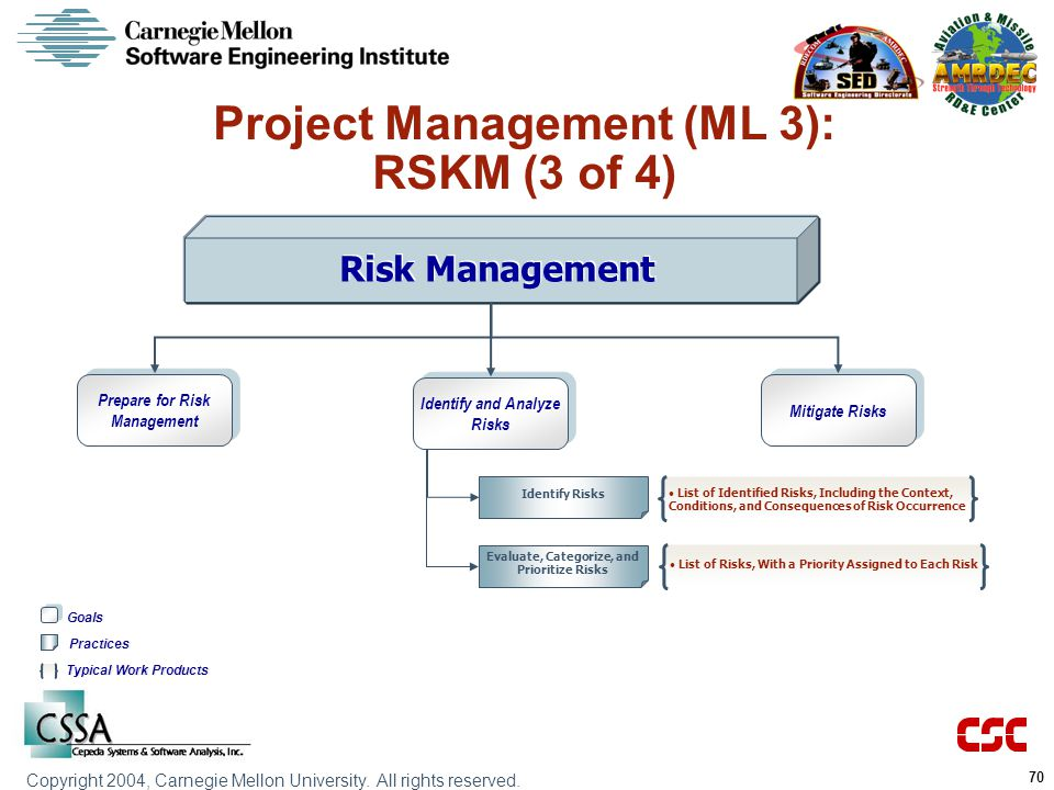 Project Management (ML 3): RSKM (3 of 4)