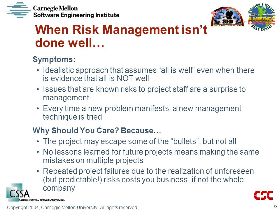 When Risk Management isn't done well…