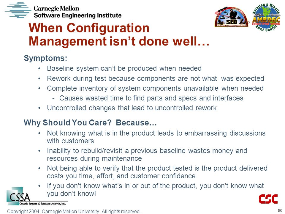 When Configuration Management isn't done well…