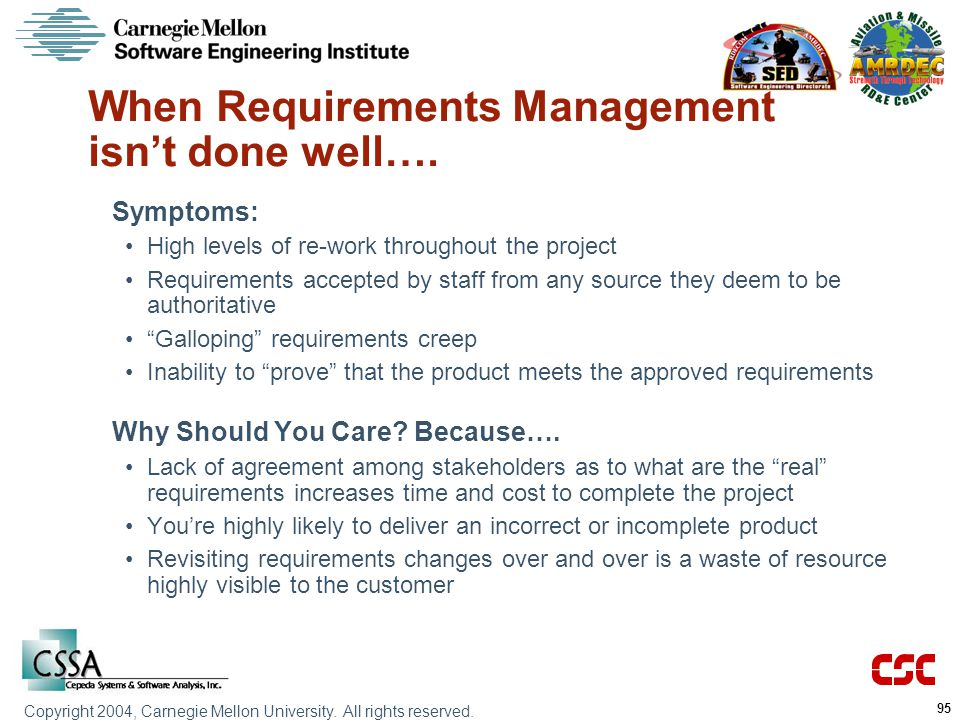 When Requirements Management isn't done well….