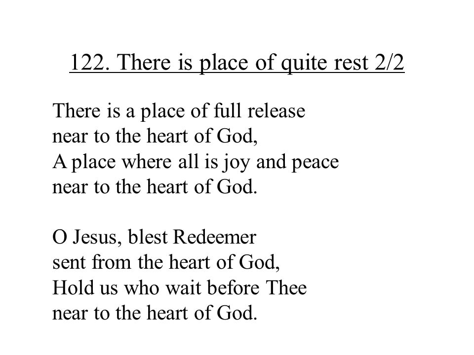 122. There is place of quite rest 2/2