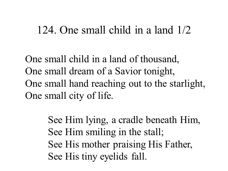 124. One small child in a land 1/2