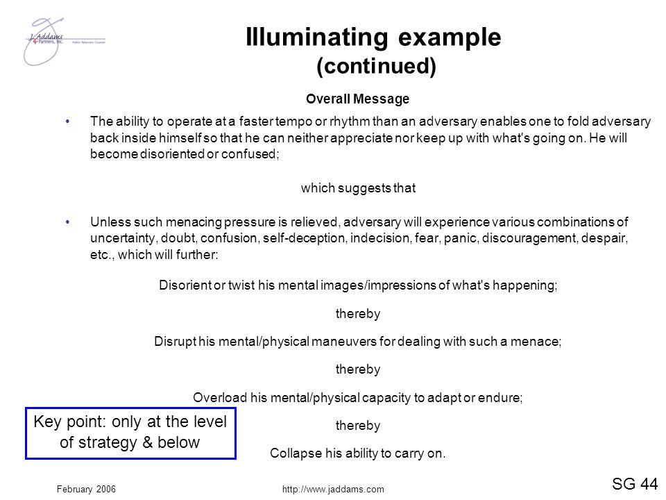 Illuminating example (continued)