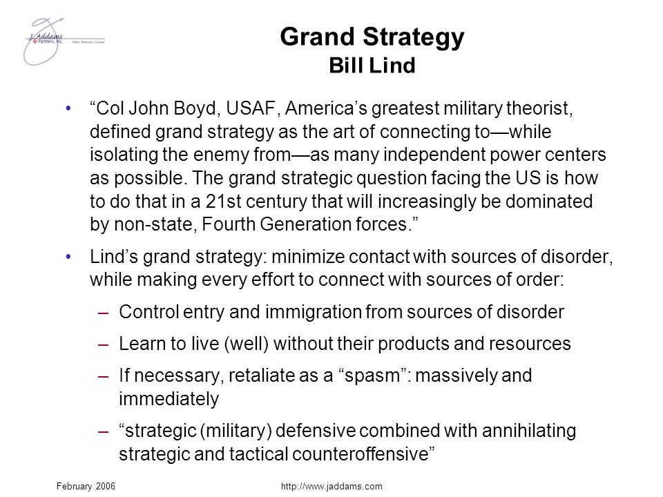 Grand Strategy Bill Lind