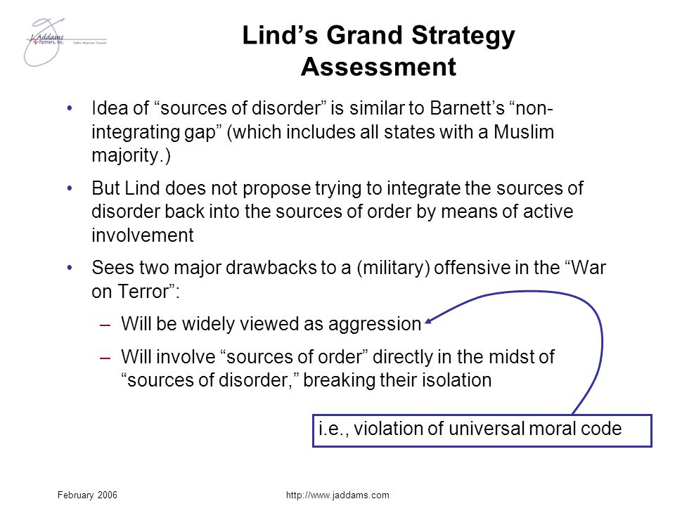 Lind's Grand Strategy Assessment