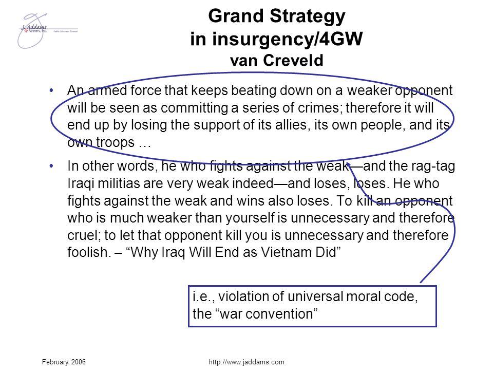 Grand Strategy in insurgency/4GW van Creveld
