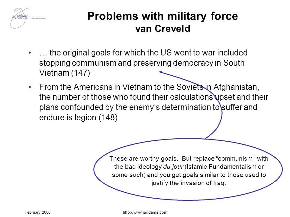 Problems with military force van Creveld