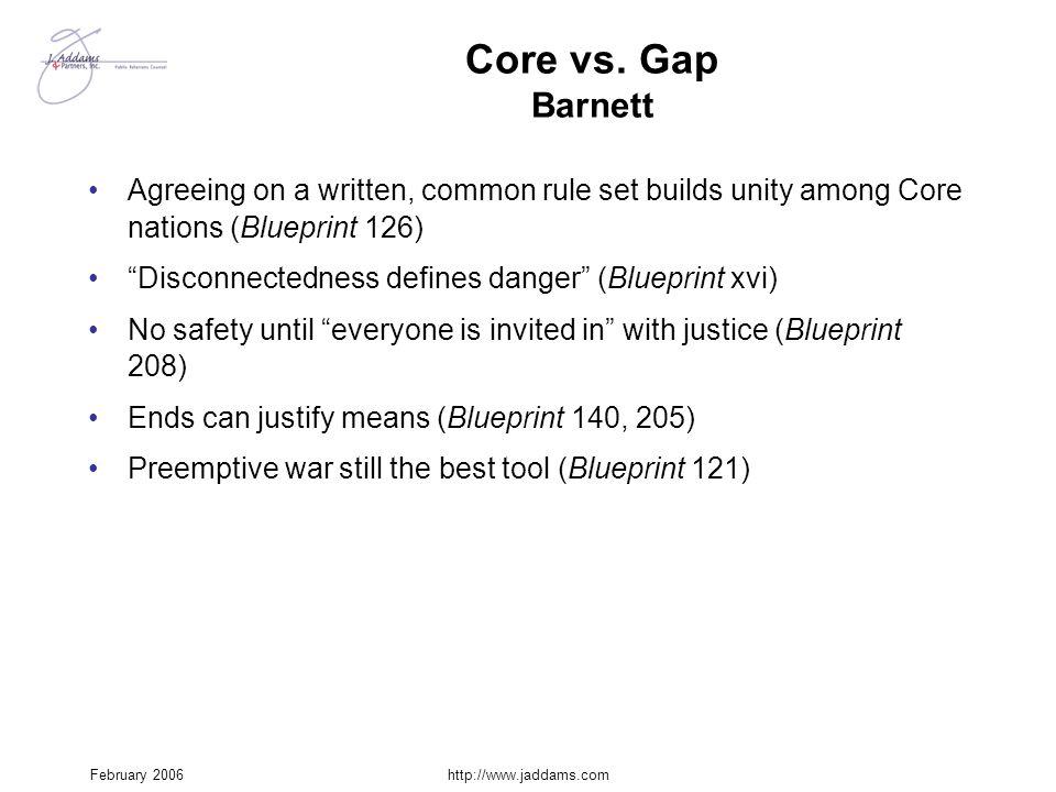 Core vs. Gap Barnett Agreeing on a written, common rule set builds unity among Core nations (Blueprint 126)
