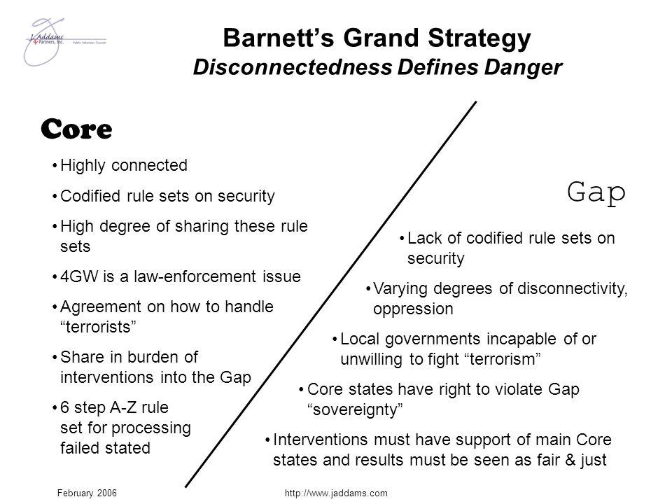 Barnett's Grand Strategy Disconnectedness Defines Danger