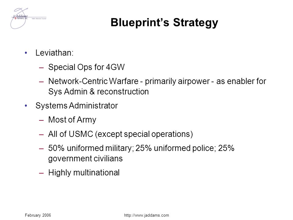 Blueprint's Strategy Leviathan: Special Ops for 4GW