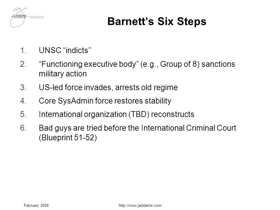 Barnett's Six Steps UNSC indicts